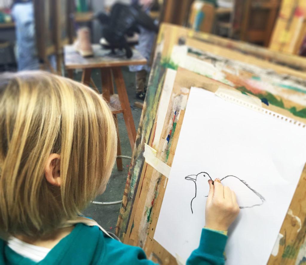 Tekenen kinderen kunstles Den Haag kunst