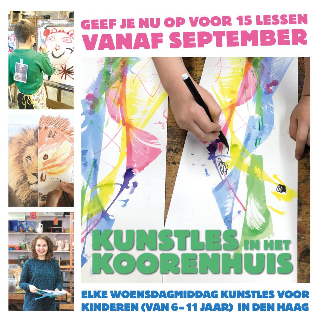 den haag kunst kinderen koorenhuis schilderen tekenen knutselen handvaardigheid kids ontwerp creatief