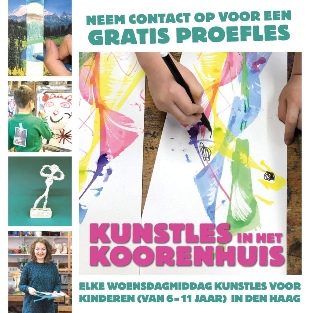 Kunst kinderen denhaag kunstles schilderen tekenen knutselen Koorenhuis The Hague