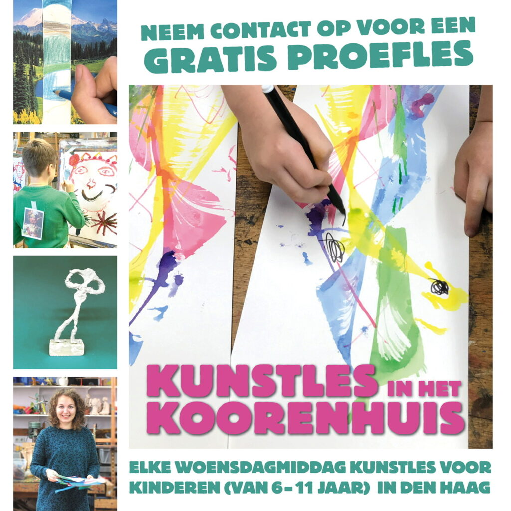 Kunst Den Haag kinderen kunstles tekenen tekenles knutselles denhaag thehague